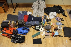 All of the gear I'm taking to South America