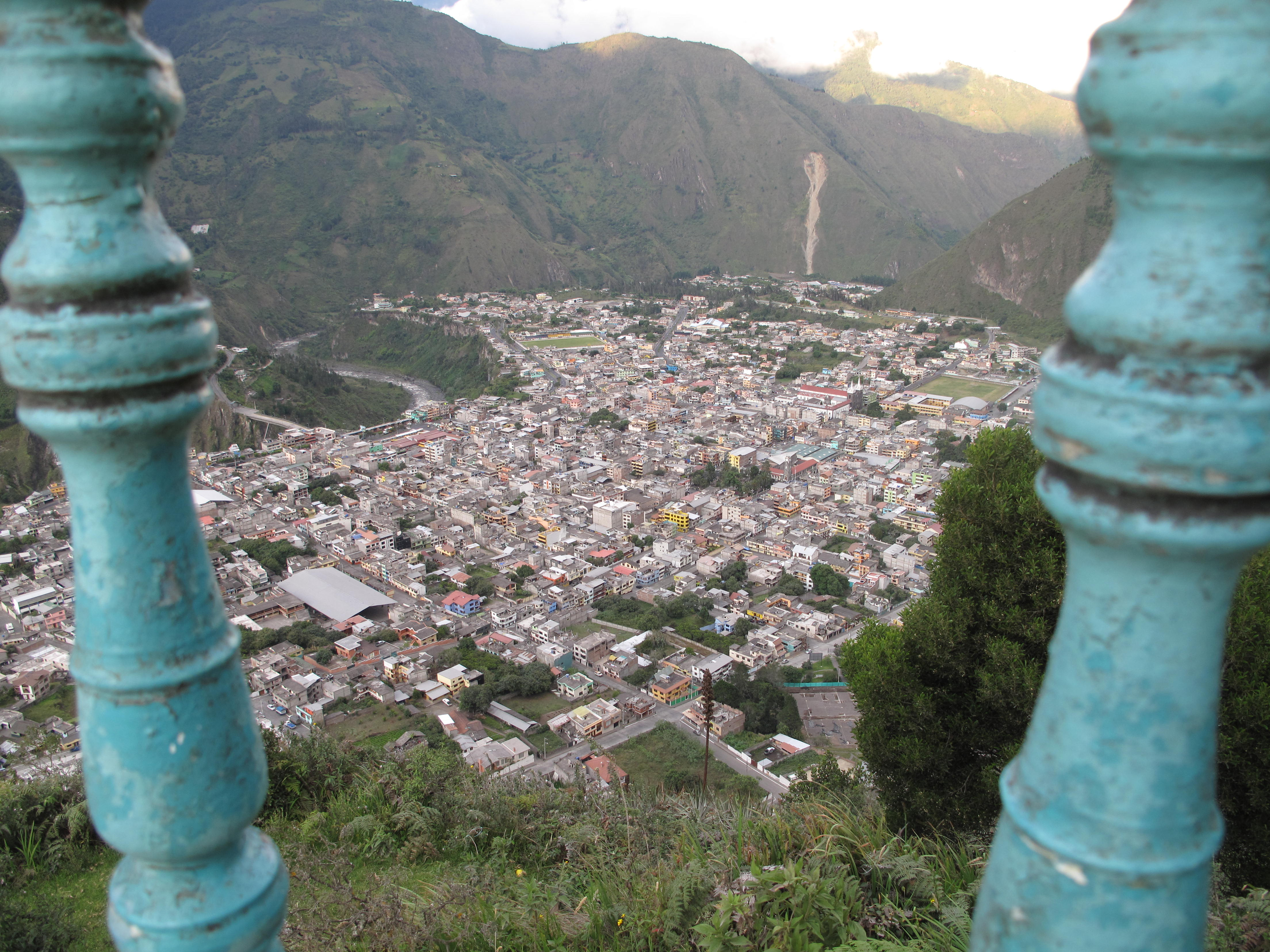 A short 45 minute hike from Banos, this town is overshadowed by the statue of the Virgin Mary, which has gaurded the town from destruction for centuries.