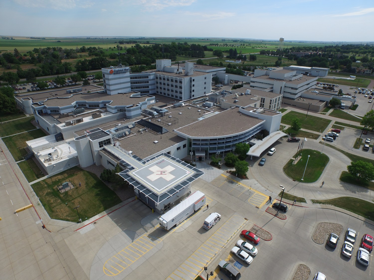 A  view of the Regional West Medical Center Campus